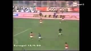 Dinamo Zagabria - Benfica 0-0 - Coppa delle Coppe 1980-81 - 16imi di finale - andata