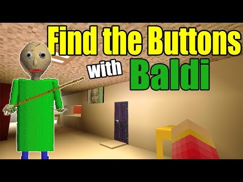 Find the Buttons with Baldi Scary Map | Minecraft PE