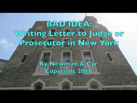 Is it a Bad Idea to Write a Letter to the DA or Judge?