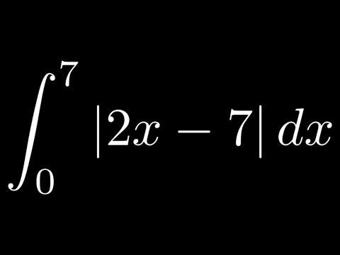 Definite Integral with Absolute Value |2x - 7| from 0 to 7/2