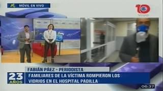 Familiares de una víctima de homicidio dañaron la guardia del hospital Padilla