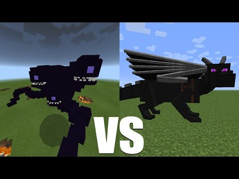 What Happens When The Wither Storm Fight Against The Ender Dragon? - Minecraft PE (Pocket Edition)