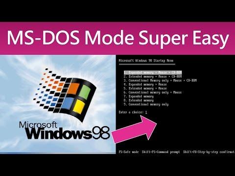 MS DOS Mode Super Easy Guide Tutorial Windows 95 98