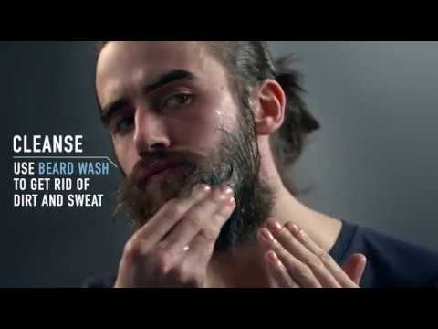 Beard Grooming with Beard Wash