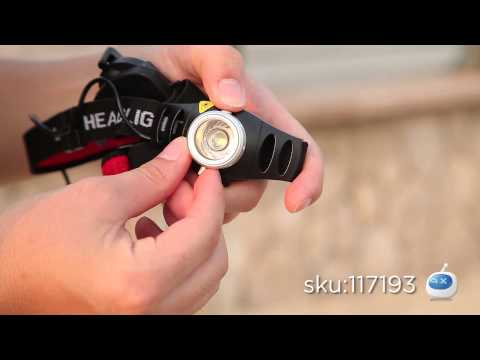 DX: $9.9 Zooming Cree Q5 200LM 2-Mode 1-LED White Light Headlamp