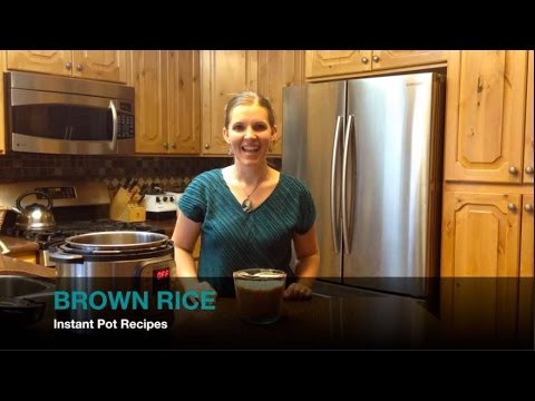 Instant Pot: Brown Rice