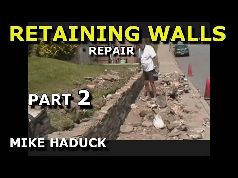 How I build a small stone wall, (part 2 of 6) Mike Haduck