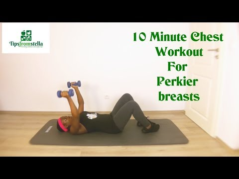 10 Minute Full Chest Workout For Perkier Breasts (1 month CHALLENGE)