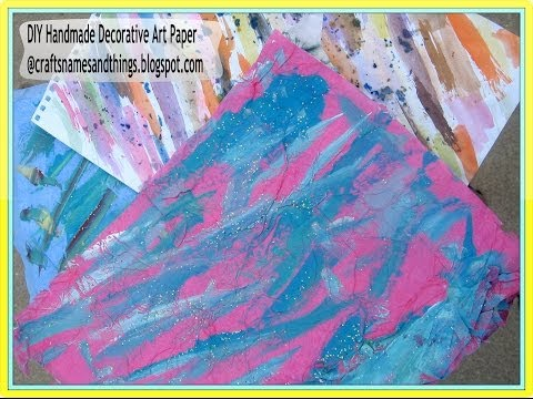 How To Make Your Own Patterned Paper / How To Make a Stamped Mixed Media Masterboard
