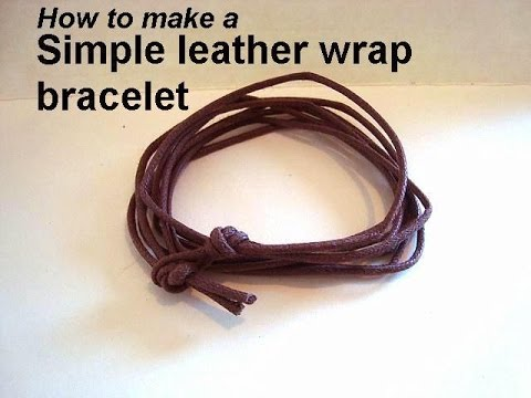 diy SIMPLE UnisexLEATHER WRAP BRACELET, JEWELRY MAKING, unisex bracelet for guys or girls