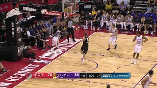 4th Quarter, One Box Video: Los Angeles Lakers vs. Portland Trail Blazers