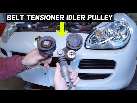 HOW TO REMOVE AND REPLACE SERPENTINE BELT TENSIONER PULLEY PORSCHE CAYENNE