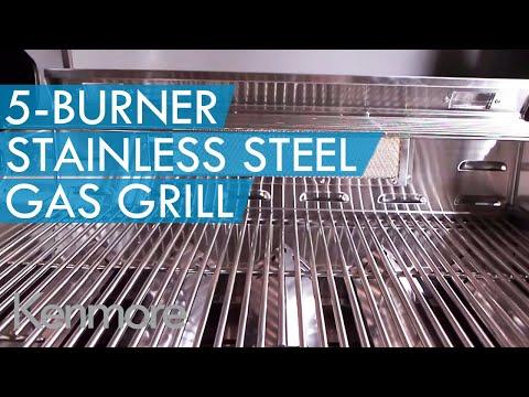 Kenmore Elite 5-Burner Stainless Steel Gas Grill