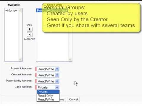 Salesforce Sharing Groups or Teams (no admin needed)