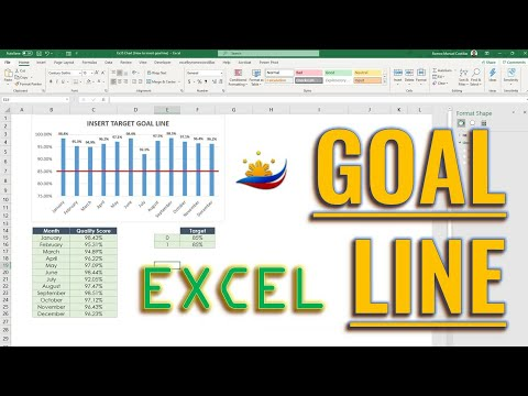 Excel How to Insert Target Line in Chart