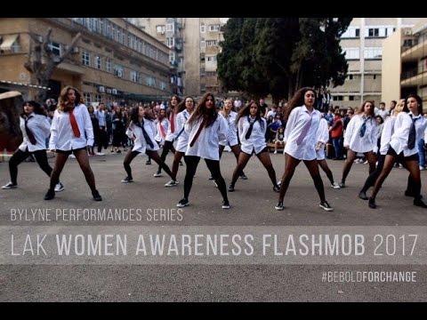 Beyonce Who Run the World Flashmob   Women Awareness In The Work Place   LAK x Lyne Gandour