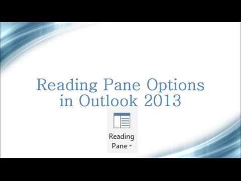 How to turn off Auto Read Option in Outlook 2013 | Reading Pane