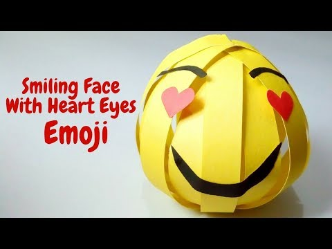How To Make Smiling Face With Heart Eyes Emoji 😍 With A Paper, DIY Paper Crafts Emoji