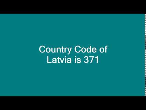 Country Code of Latvia is 371