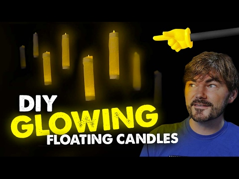 Glowing Floating Candles (HOW TO) - DIY Harry Potter Prop