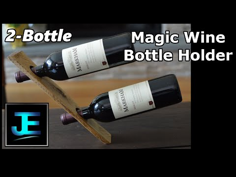 How To: Build a Double-Bottle Magic Wine Bottle Holder