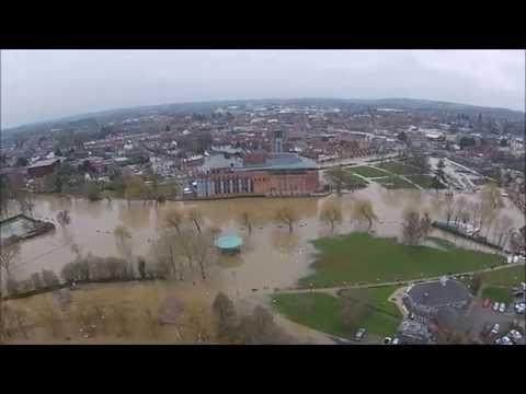 Floods in Stratford upon Avon 10/3/2016