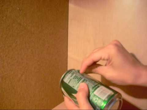 How to cut a can open