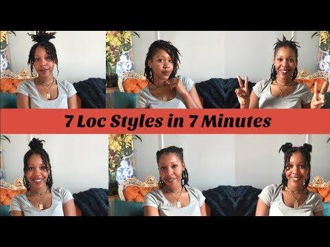 7 Easy Loc Styles in 7 Minutes | Short/Medium Locs