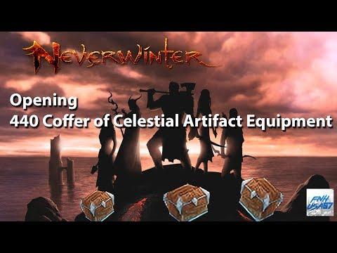 Neverwinter: Opening 440 Coffer of Celestial Artifact Equipment (mod 12B)