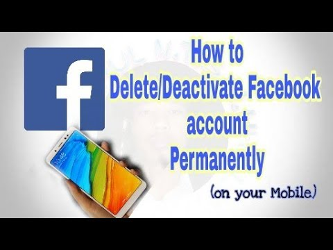 How to Delete/deactivate Facebook account Permanently || on your mobile || easy process