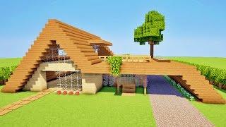 Minecraft visite maison moderne par pierresautron music jinni - Comment faire une chambre moderne minecraft ...