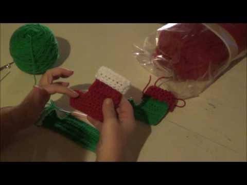Mini Elf socks and christmas stocking - Tutorial - Crochet - English