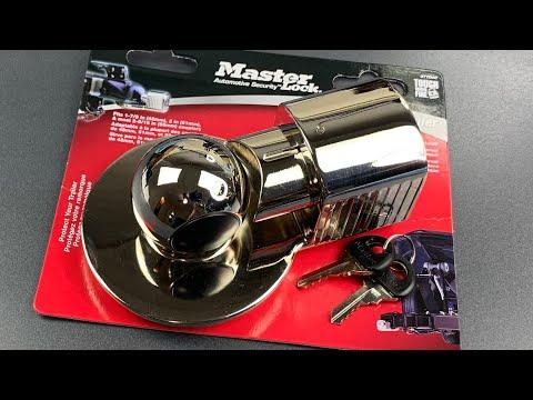 [809] TERRIBLE Master Lock Trailer Coupler Lock Picked (Model 377DAT)