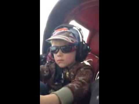 3-1/2 Year Old Flying a Plane