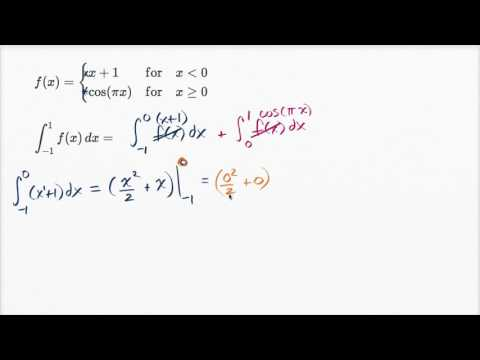 Definite integral of piecewise function | AP Calculus AB | Khan Academy