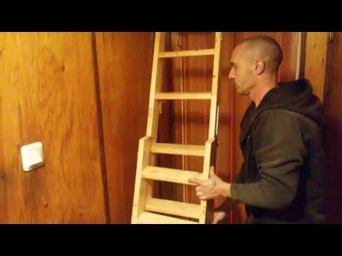 homemade attic ladder