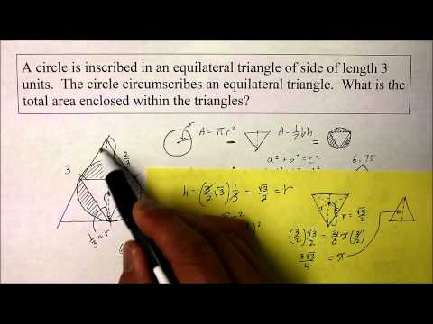 902 GE Part 2  Find the Radius of a Circle Inscribed inside a Triangle