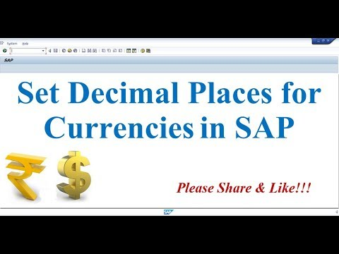 How to Set Decimal Places for Currencies in SAP