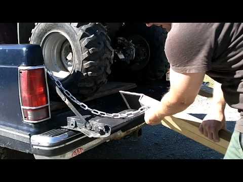 DIY ATV/ Lawnmwer loading ramps