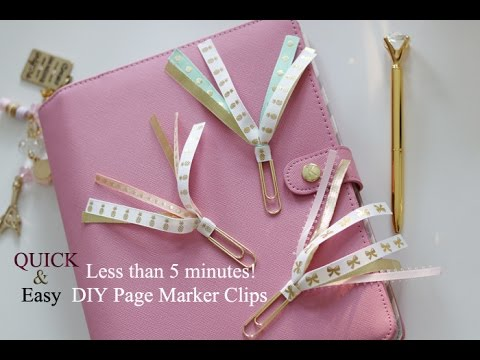 QUICK & EASY Tutorial/DIY Ribbon Marker Clip! As Requested.