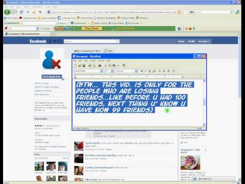Find out who deleted you from facebook friends list
