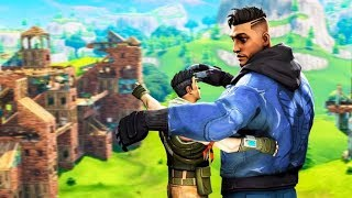 My Random Duo And I Accidentally Joined A Scrim (Fortnite Battle Royale)
