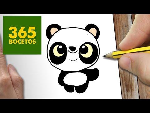 Como Dibujar Panda Kawaii Paso A Paso Dibujos Kawaii Faciles How