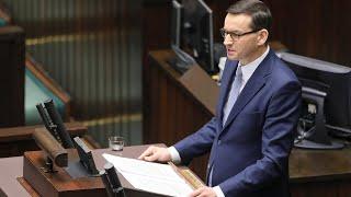 1. posiedzenie Sejmu IX kadencji. Exposé premiera Mateusza Morawieckiego