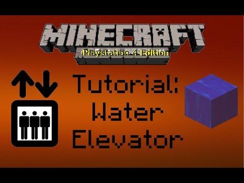 Minecraft PS4 Tutorial: Water Elevator!