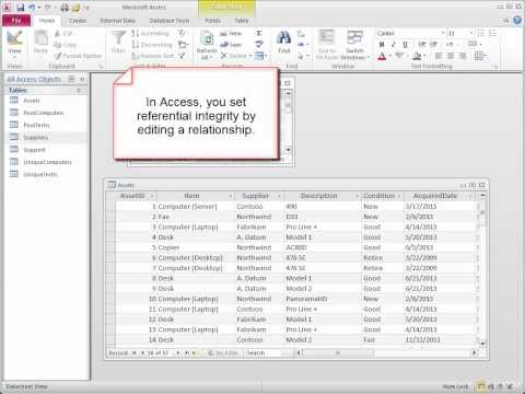 Microsoft Access 2010 Training   Create Relationships For A New Database   2