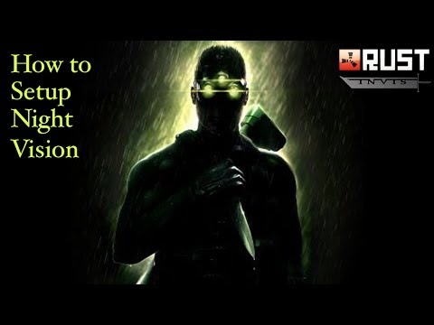 How to setup night vision for rust or most games out there.