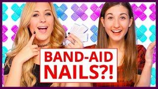 Band-Aid Nail Art!? - Makeup Mythbusters w/ Maybaby and LaurensVanityy