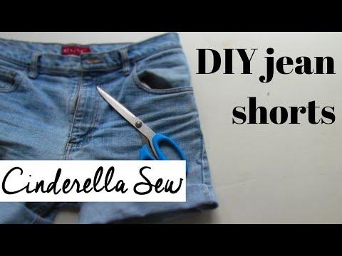 DIY jean shorts - Cut jeans into jorts - Cuffed denim short tutorial with Cinderella Sew