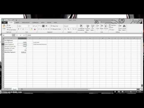 Car Payment Calculator on Excel